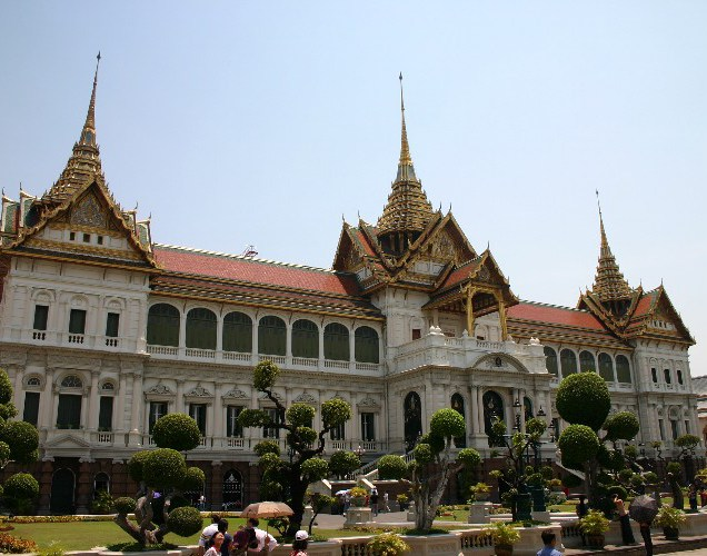 qq1 - On the Steps of the Grand Palace in Bangkok, Thailand
