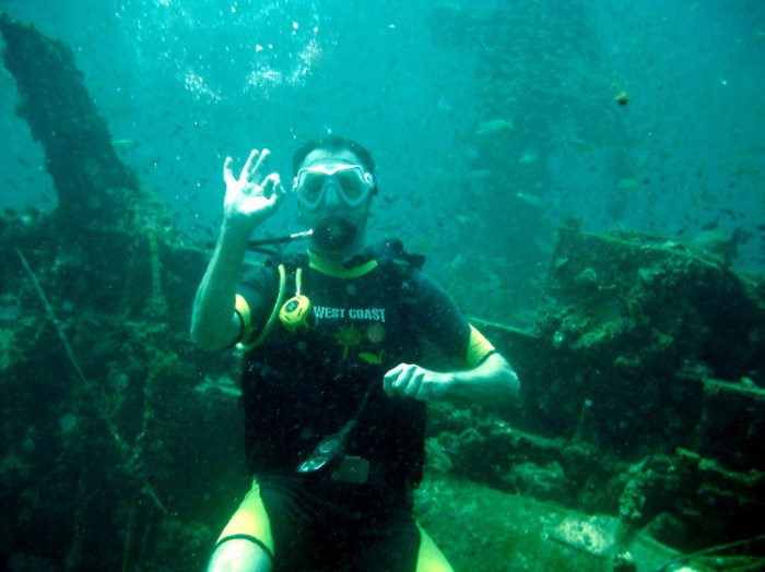 qw8 - Diving the King Cruiser Wreck and Shark Point in Koh Phuket, Thailand