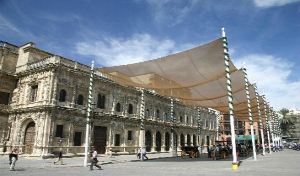 FSTravels Masonry Spain May 21 015 - Sevilla: Full of Fan Palms, Cafés and Historic Monuments