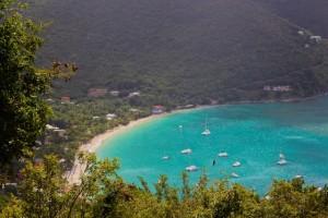 BVI Beaches: The View down to Cane Garden Bay