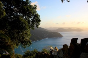 BVI Beaches: The Sunset View down to Cane Garden Bay