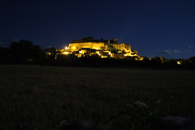 Night time views of the chateau