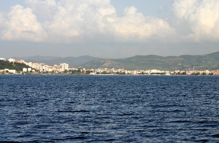 Looking Down the Dardanelles Towards Gallipoli