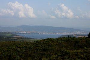 Looking Down the Dardanelles Towards Gallipoli