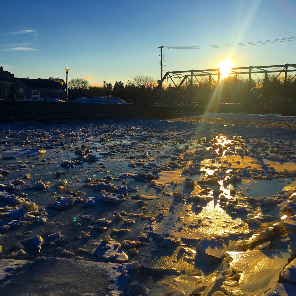 IMG 9734 1024x1024 - PHOTO: Sunset Ice over Trout Creek