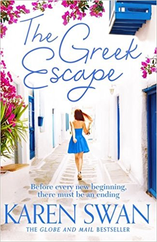 The Greek Escape, written by U.K. author Karen Swan, inspires you to travel to Greece and explore the blue water and colourful houses.