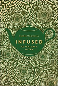 Front cover image of infused with a pot of tea surrounded by swirls