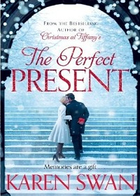 Front cover image of a woman in a white coat and a man in a suit kissing on steps surrounded by snow
