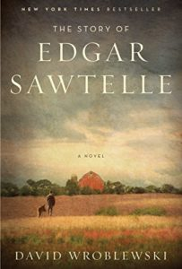 Cover picture of a boy and his dog walking across a wheat field to a red barn