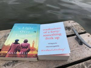 Two books: The Light Over London and confessions of a forty-something f##k up on a dock by the water